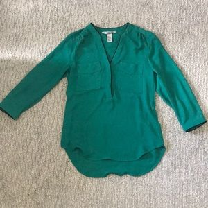 Professional Teal Blouse